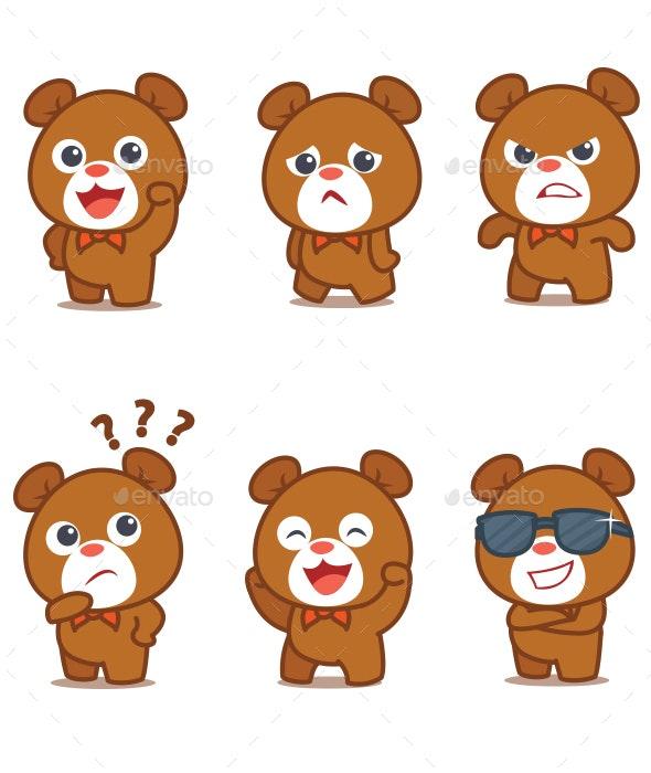 Bear Set Illustration - Animals Characters