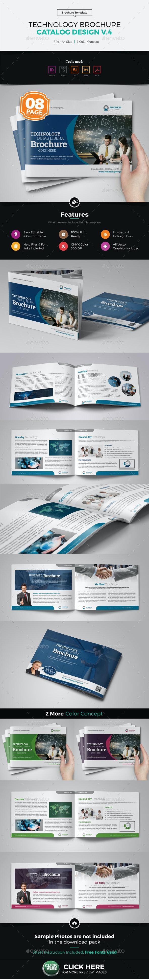 Technology Brochure Catalog Template v4 - Corporate Brochures