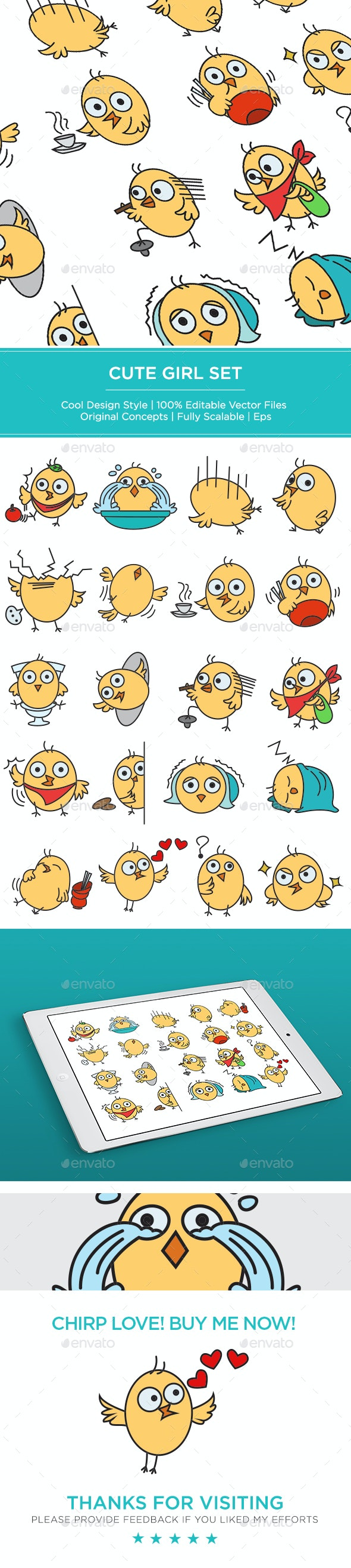 Chick Set - Animals Characters