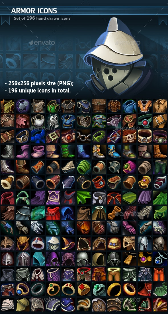 Armor Icon Pack - Miscellaneous Game Assets