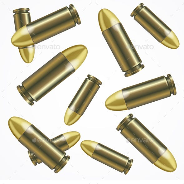 Realistic Bullet Pattern Background