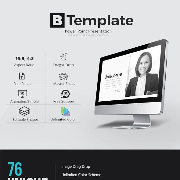 B Template Power point Presentation