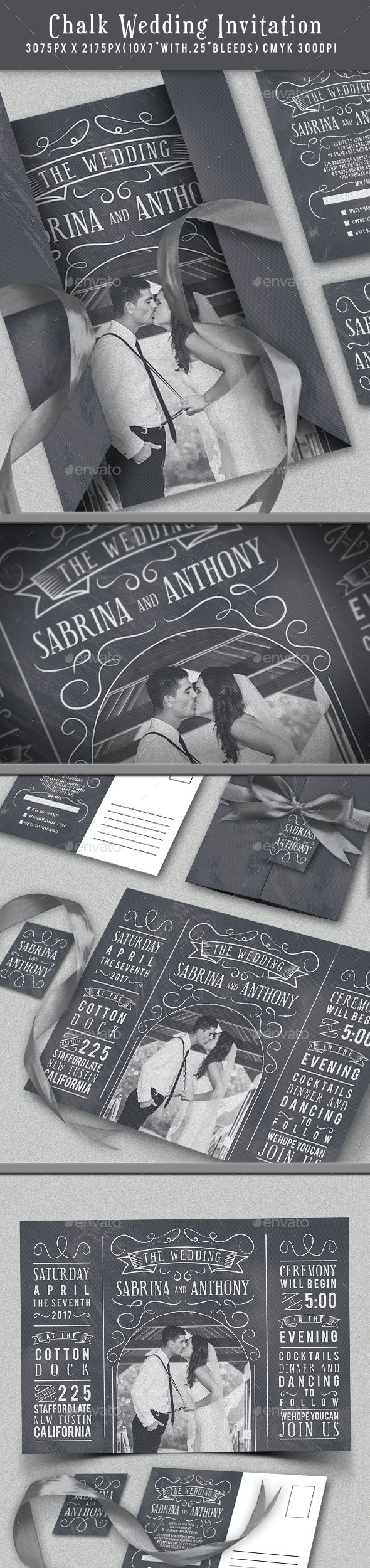 Chalk Wedding Invitation - Weddings Cards & Invites