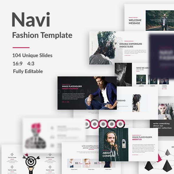 Navi - Fashion Google Slide Template