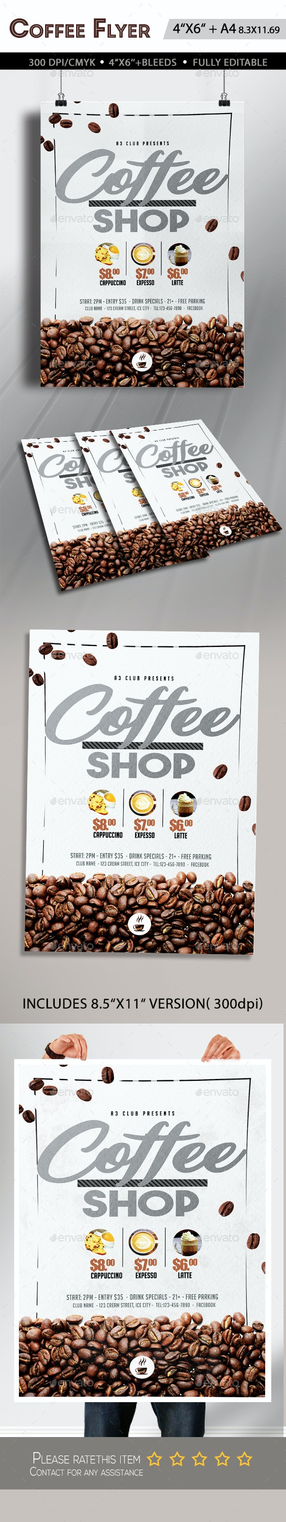 Coffee Flyer Template - Clubs & Parties Events