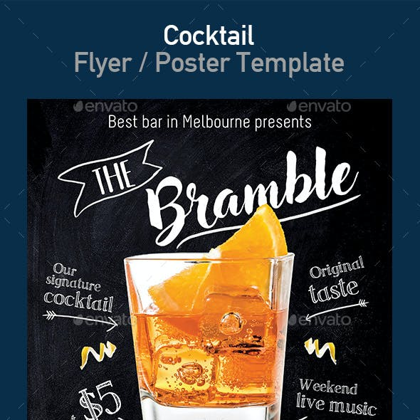 Bramble Cocktail Flyer / Poster Template
