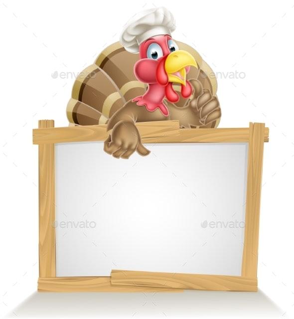 Chef Hat Turkey Sign - Miscellaneous Vectors