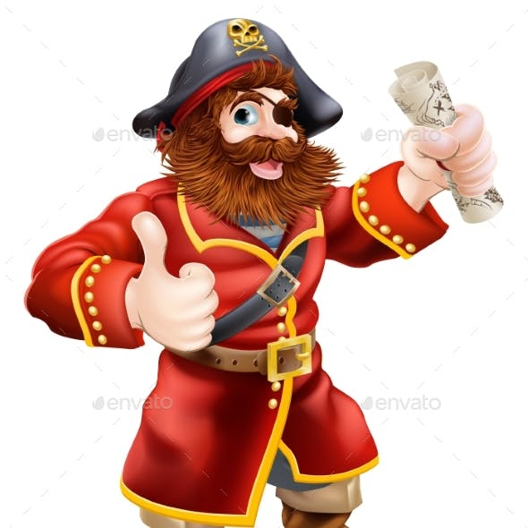 Cartoon Thumbs Up Pirate