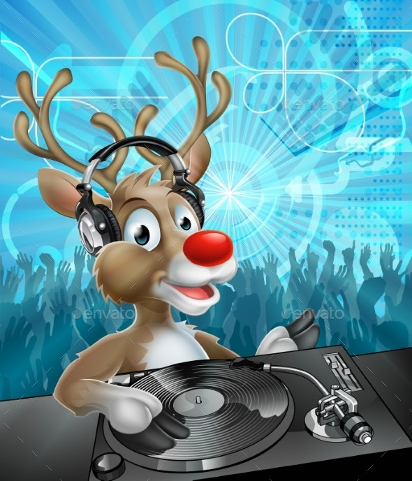Christmas Reindeer Party DJ - Animals Characters
