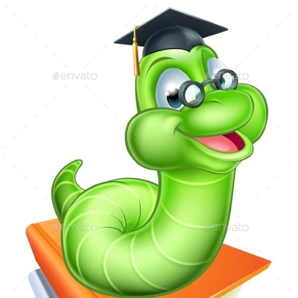 Cartoon Caterpillar Worm