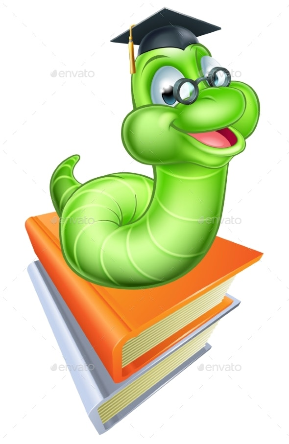 Cartoon Caterpillar Worm - Animals Characters