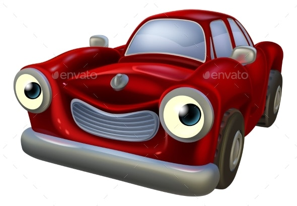 Car Cartoon Character - Miscellaneous Characters