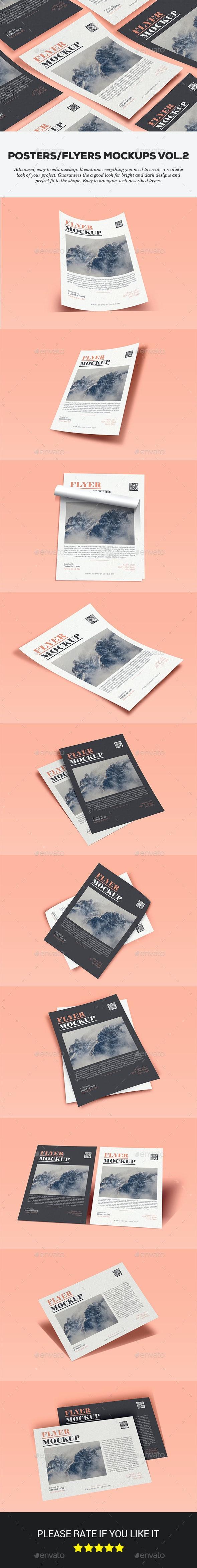 Posters & Flyers Mockups Vol.2 - Flyers Print