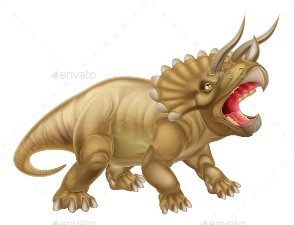 Triceratops Dinosaur Illustration - Animals Characters