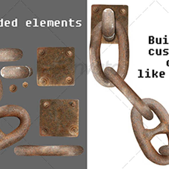 Rusty chain parts