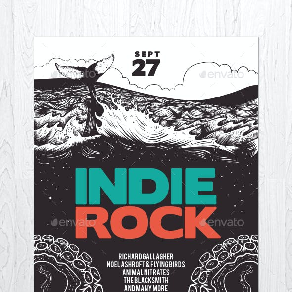 Illustrated Indie Rock Flyer