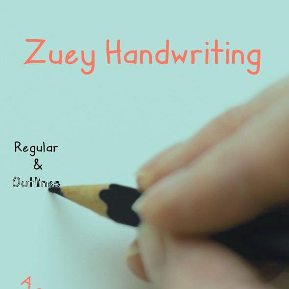 Zuey Handwriting Typeface