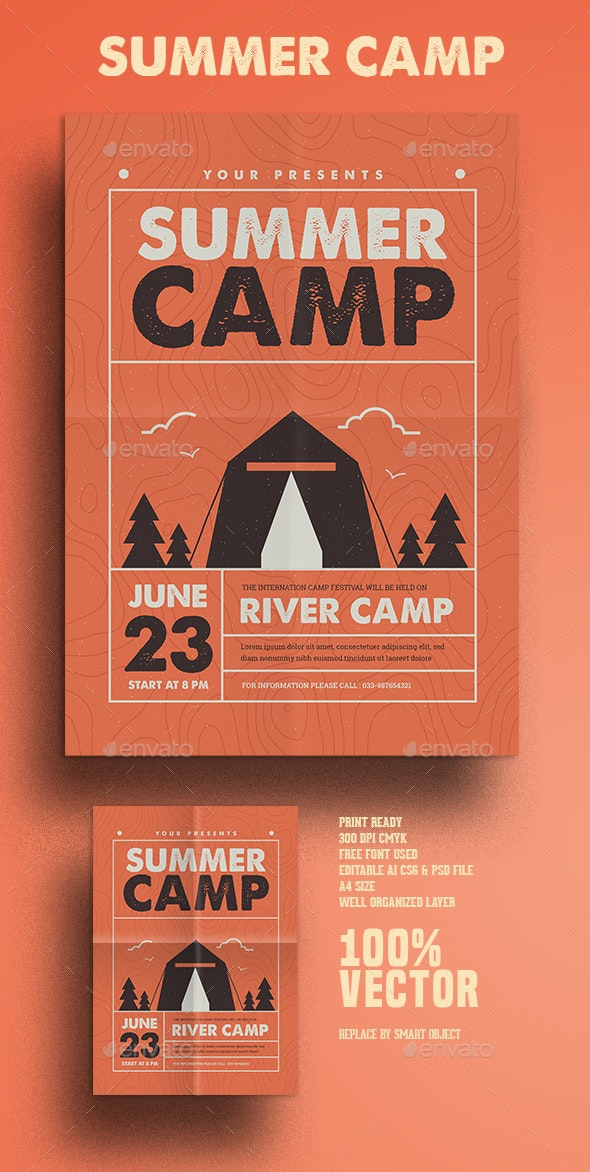 Indie Summer Camp - Flyers Print Templates