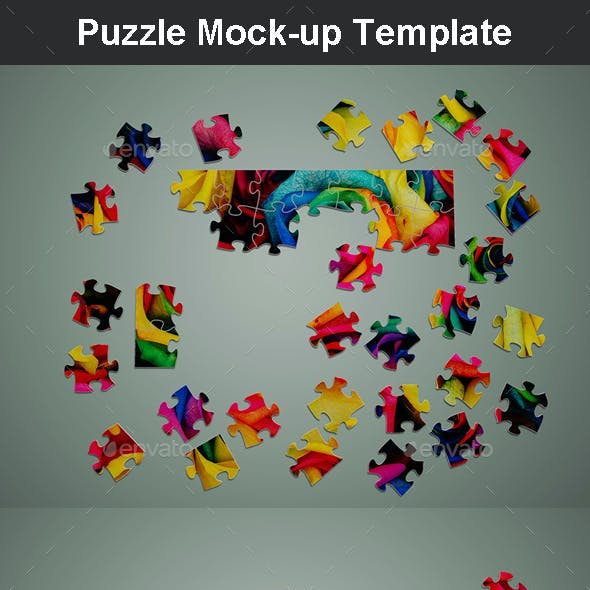 Puzzle Mock-up Template