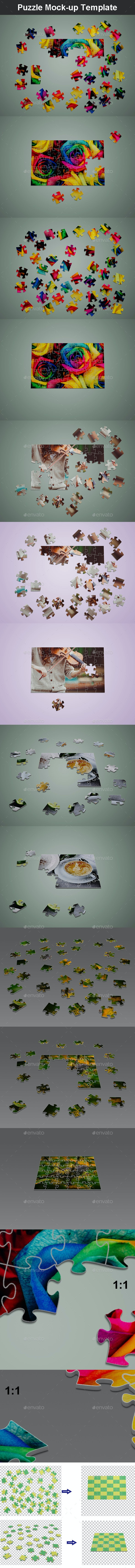 Puzzle Mock-up Template - Miscellaneous Print