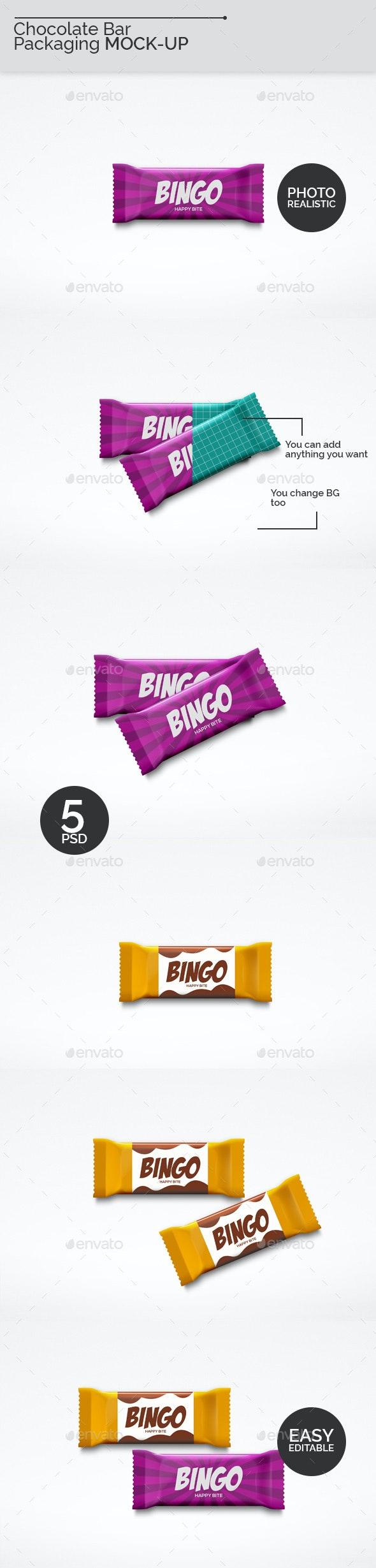 Chocolate Bar Packaging Mock-Ups - Food and Drink Packaging