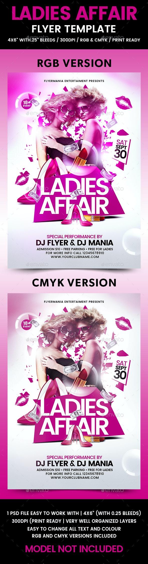 Ladies Affair Flyer Template - Flyers Print Templates