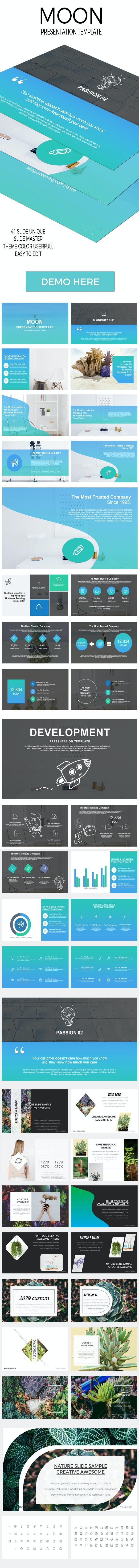 Moon Powerpoint Presentation Template - PowerPoint Templates Presentation Templates