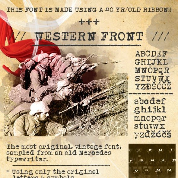 Original Vintage Typewriter Font called Western Front