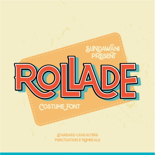 Rollade Typeface