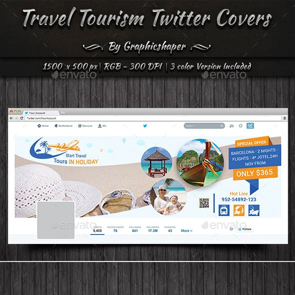 Travel Tourism Twitter Cover