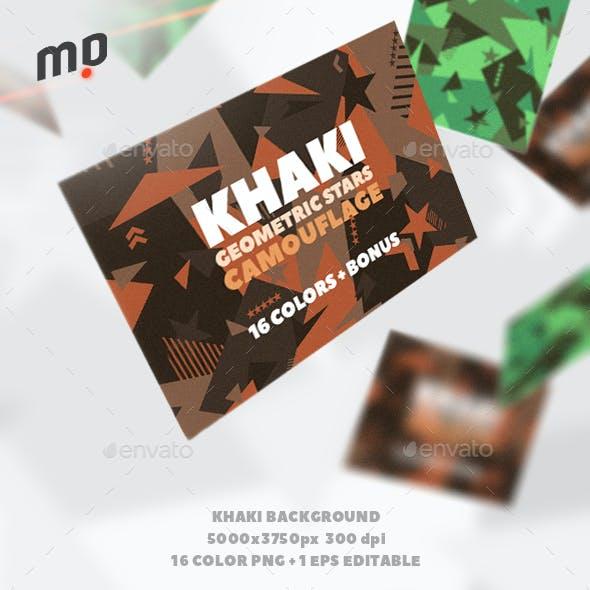 Khaki Geometric Camo