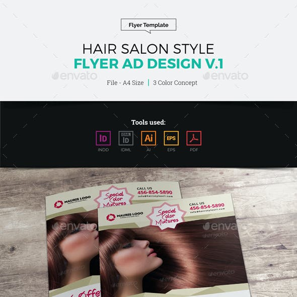 Hair Salon Style Flyer Design