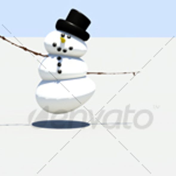 Dancing snowmen web banner