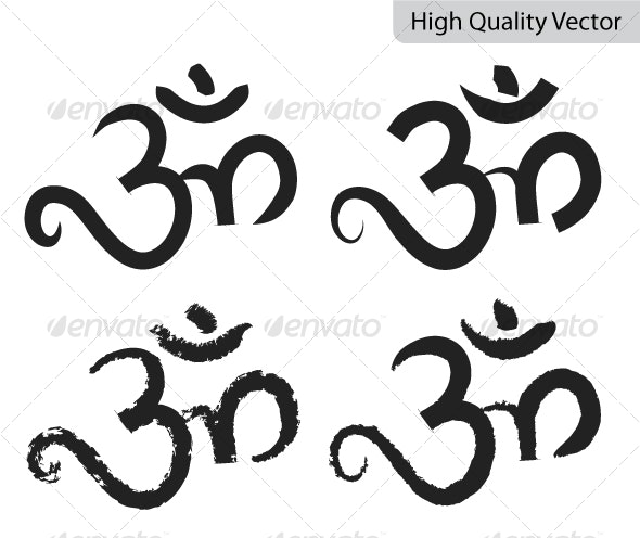 Religious Vector Symbol - OM - Religion Conceptual