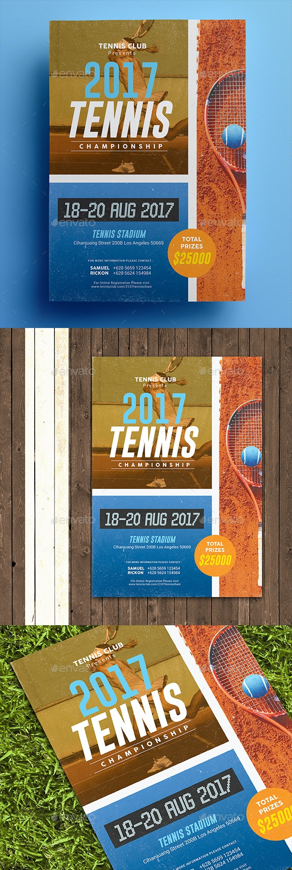 Tennis Championship Flyer - Sports Events