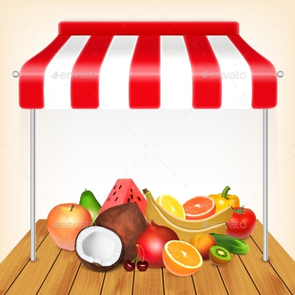 Fruits Market Concept - Food Objects