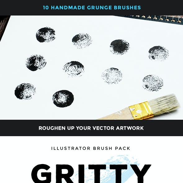 Gritty Rounds – Illustrator Brush Pack
