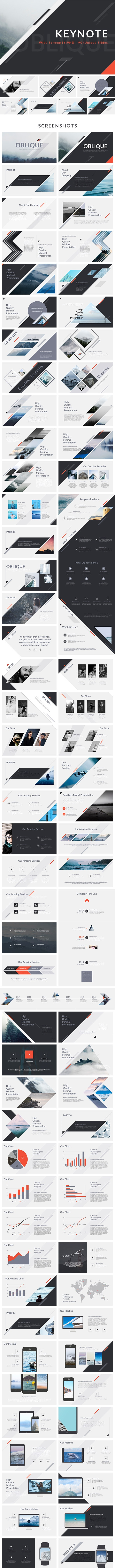 Oblique - Keynote Presentation Template - Abstract Keynote Templates