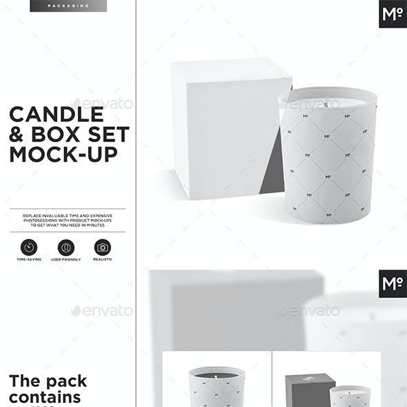 Candle & Box Set Mock-up