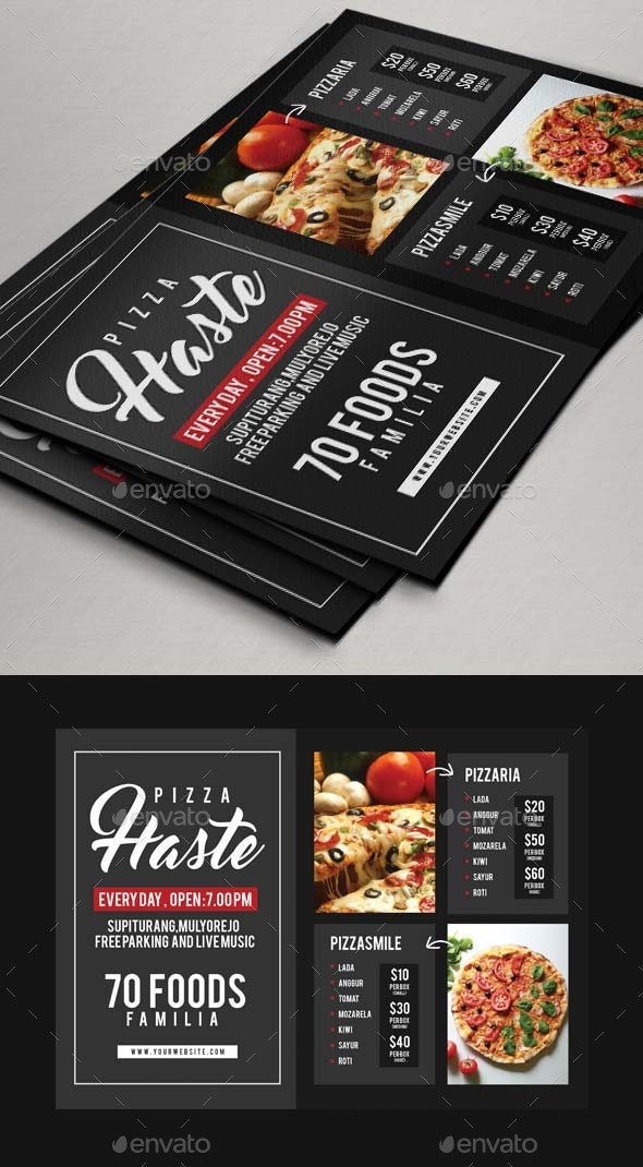 Food or Pizza Flyer - Restaurant Flyers