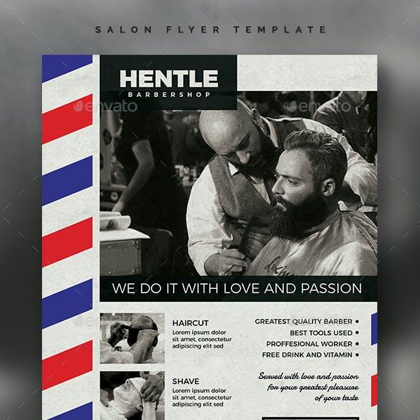 Barbershop Flyer Template Vol.02