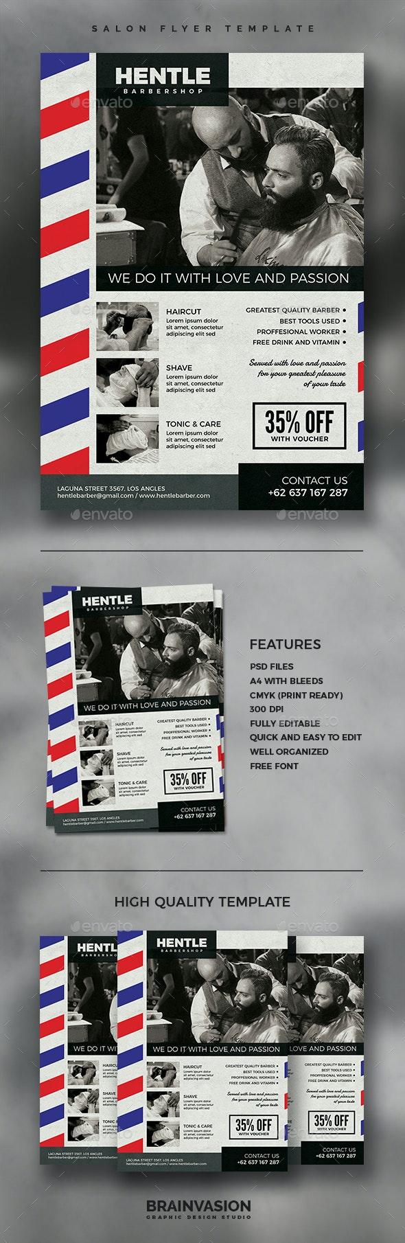 Barbershop Flyer Template Vol.02 - Corporate Flyers