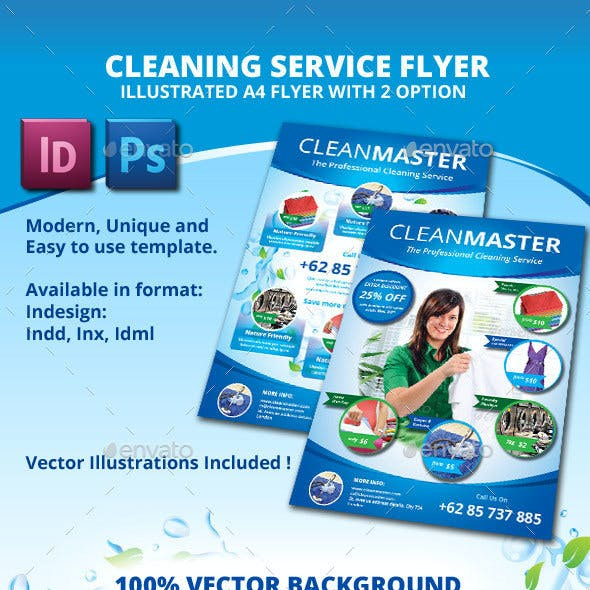 Eco - Cleaning Service A4 Flyer with 2 Layout