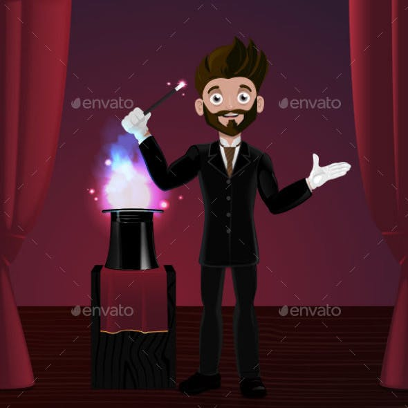 Magician in Stage