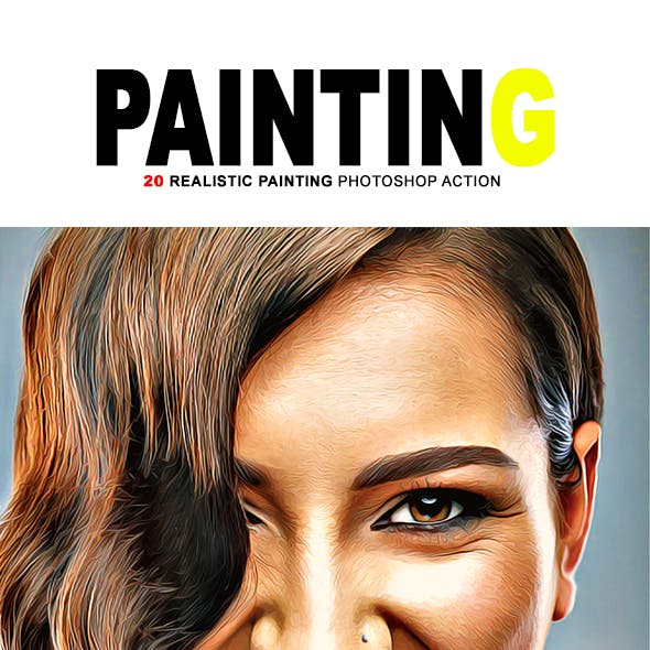 20 Realistic Paints Photoshop Action