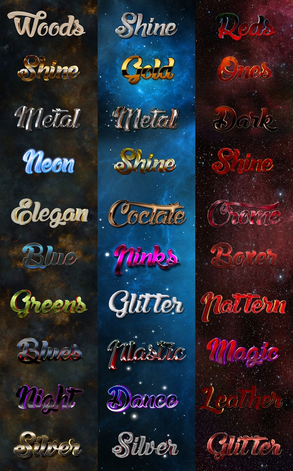 30 Bundle Mix Style A - Text Effects Styles