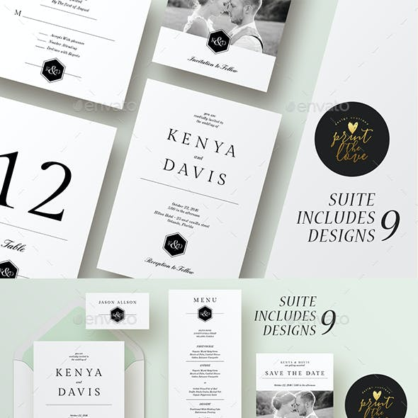 Wedding Invitation Suite - Leganto