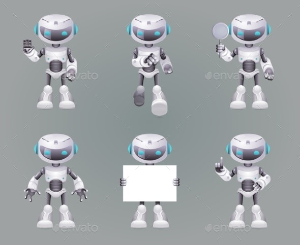 Different Poses Robot Innovation Technology - Technology Conceptual