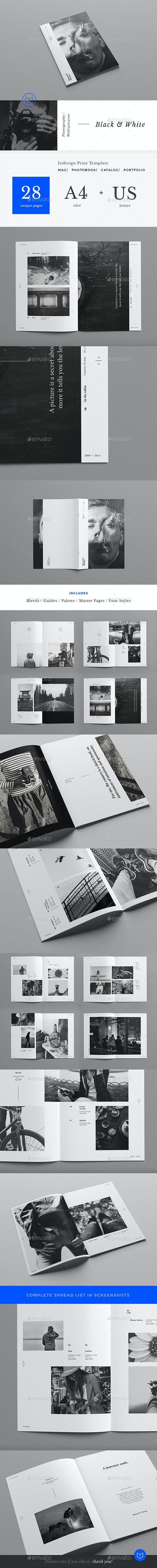 Clean Photography / Art Portfolio - Portfolio Brochures