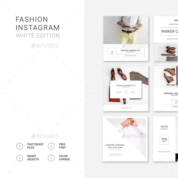 Fashion Instagram – White Edition